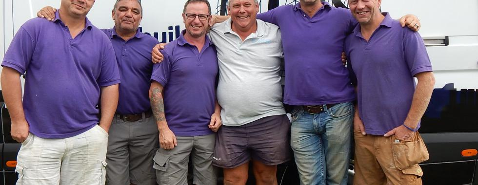 Three members of the Roof Assured by Sarnafil registered installer network joined Nick Knowles and the DIY SOS team in Manchester, for the challenge to rebuild a street of derelict housing, a support centre and a re-training house for war veterans.