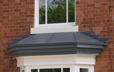 A Sarnafil Roof installed on a bay view window on a residential property.