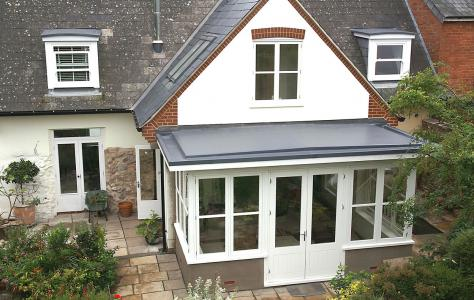 Lead free conservatory with Sarnafil roof.