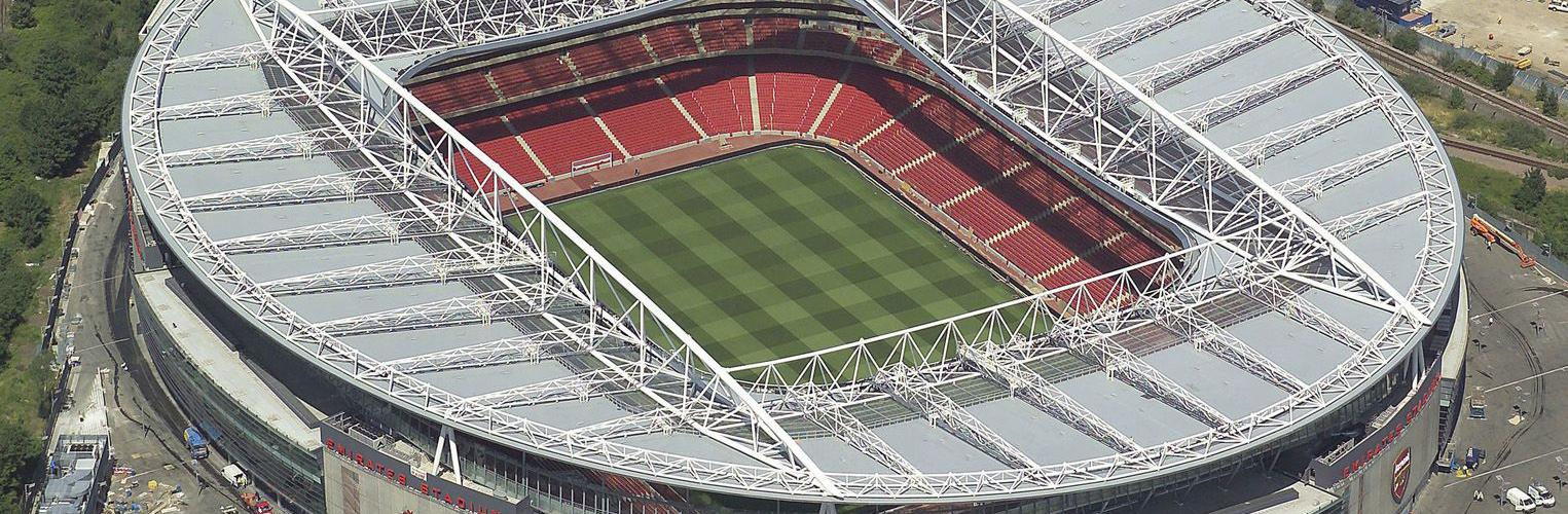 Photo of Arsenal's Emirates Stadium where our roofing product was used. Sarnafil was specified for the flexibility of the product, in terms of colour, detailing, and guarantee options.