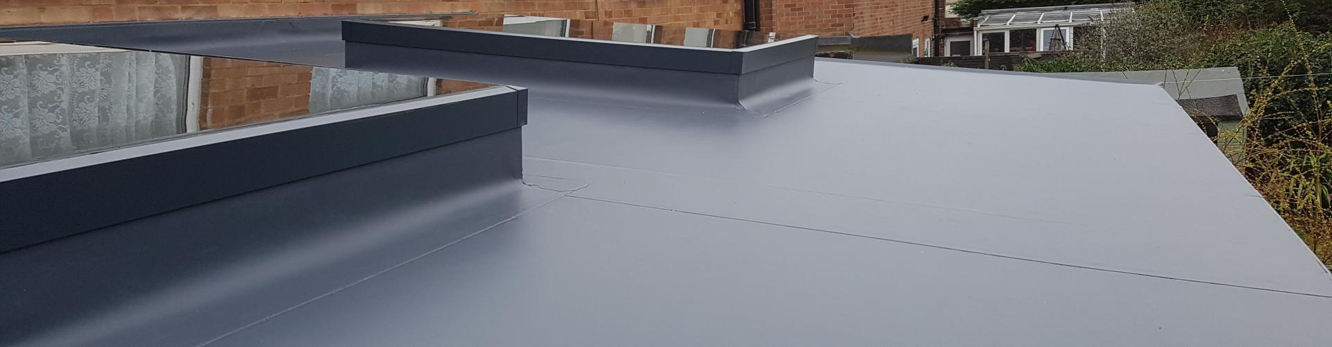 Single ply membrane on home rear extension