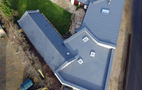 New Sarnafil single ply membrane roof installation