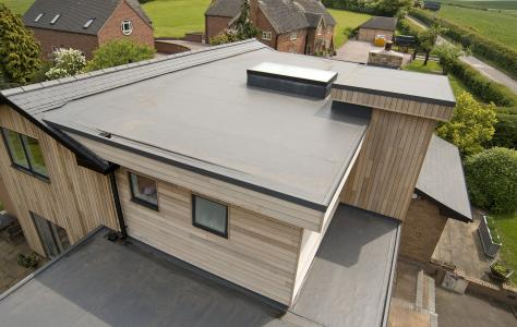 Self build benefits from Sarnafil single ply roof installation