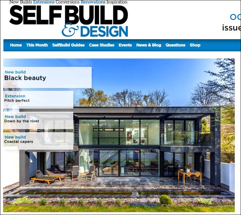 Black beauty feautre in self build magazine