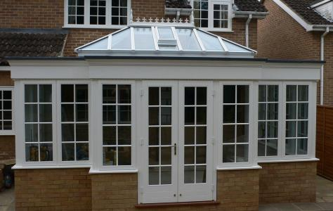 Photo of new conservatory with newly installed flat roof.