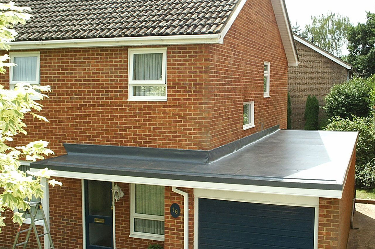 Single Ply Garage Roofing Installation Roof Assured By