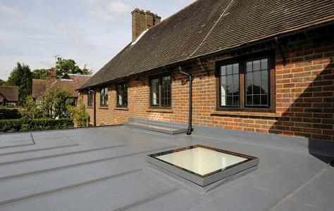 Single ply membrane flat roof extension installation