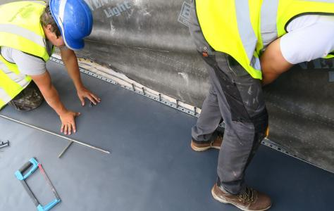 Flat roof installation on self build project